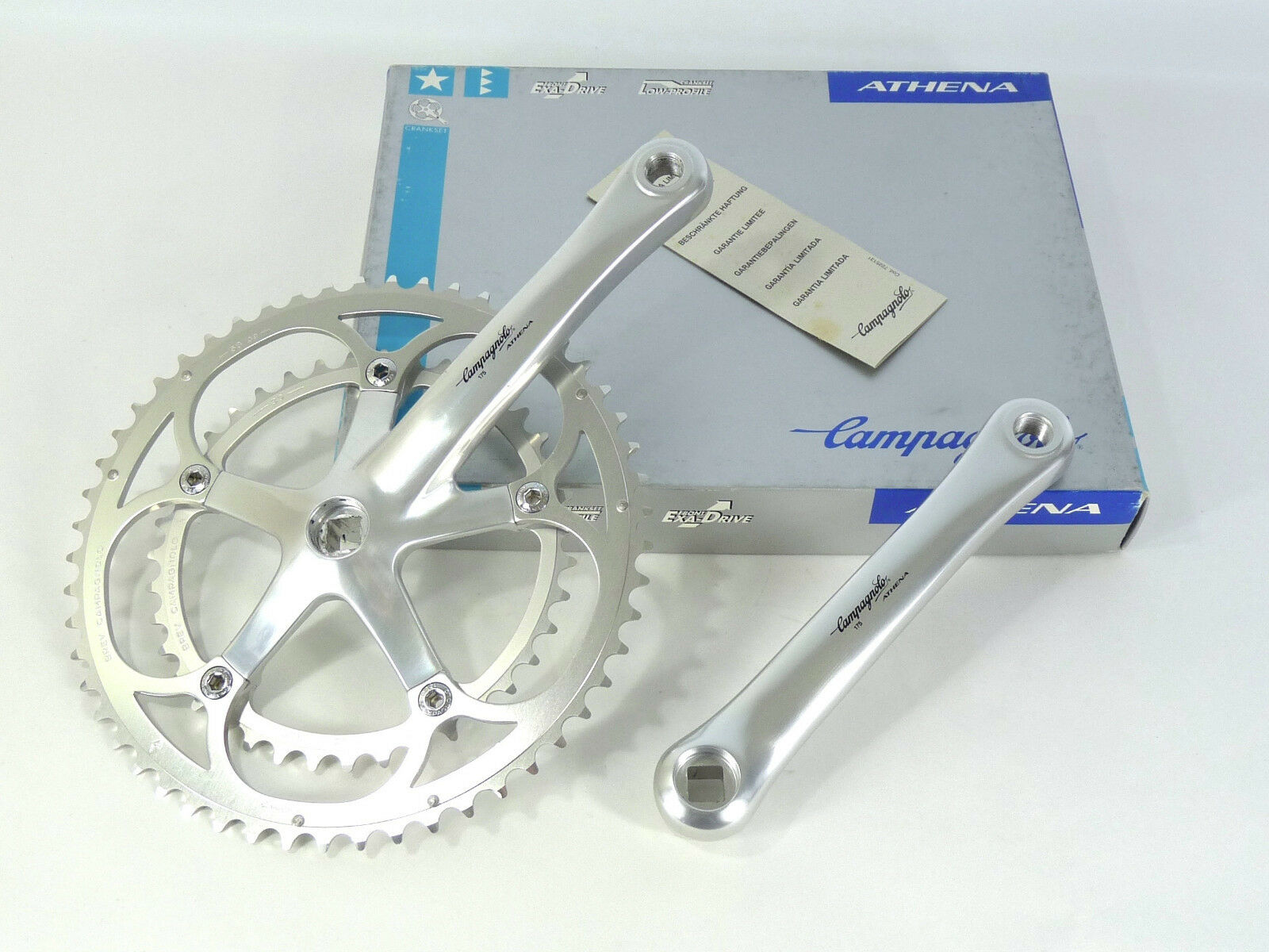 Campagnolo Crankset Athena 9 Speed 175mm 53 39  chainrings Vintage road Bike NOS  for wholesale