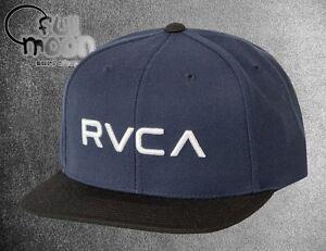 reputable site e1c2b 17853 Image is loading New-RVCA-Twill-II-Mens-Navy-Snapback-Cap-