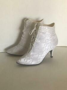 Vintage 1980's White Lace High Heel