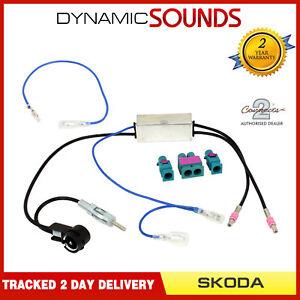 ct27aa177-Doble-Fakra-a-DIN-amp-ISO-adaptador-de-antena-para-SKODA-TODOS-LOS
