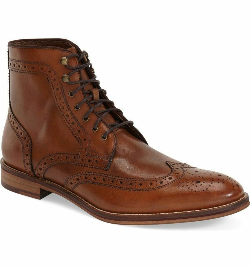 Mens leather shoes handmade  wingtip brogue chelsea  outlet online