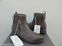 Ugg Collection Stella Grigio Leather Fully Shearling Lined Boots, Us 7/ 38