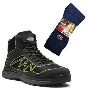 Negro Botas de Phoenix y Dickies trabajo lima par botas de calcetines 1 de de seguridad rX0rYP
