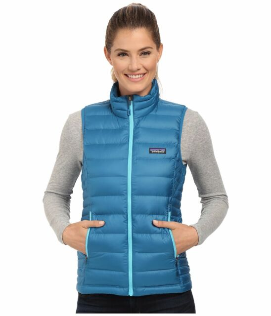 NEW Patagonia Down Sweater Vest Women's Size M Blue 800 Fill NWT $179