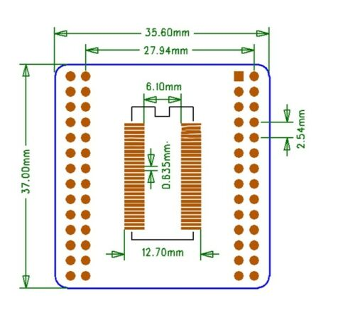 5Pcs SOP56 SSOP56 TSSOP56 0.635mm//0.8mm Pitch SMD to DIP Adapter Converter Plate