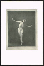 1910's Vintage Nude Dancer Arnold Genthe Pictorialist Dance Photo Print e