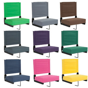 Stadium-Arena-Bleacher-Thick-Seat-Cushion-Chair-Portable-Folding-Backrest-9color