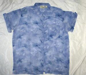 VINTAGE-80s-short-sleeved-shirt-Geek-Chic-L-Unisex-Floral-Retro