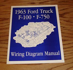 s l300 1963 ford truck f100 f750 wiring diagram manual 63 pickup ebay