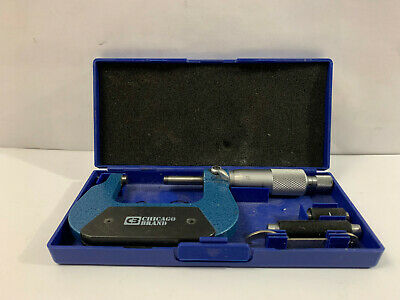 """NEW 1-2/"""" .0001/"""" Carbide Tipped Precision Micrometer Outside Micrometer"""