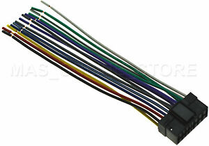 wire harness for sony cdx gt260mp cdxgt260mp cdx gt40u cdxgt40u image is loading wire harness for sony cdx gt260mp cdxgt260mp cdx