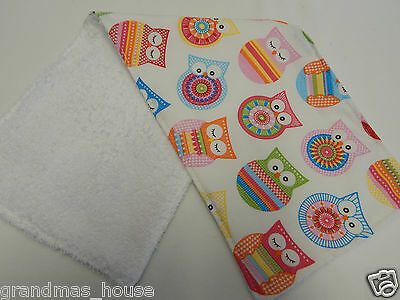 1 Only Toweling Back GREAT GIFT IDEA Pink Sorbet Chevron Burp Cloth