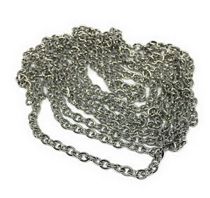 4mm wide x 5mm 304 stainless steel hypoallergenic cable chain non tarnish