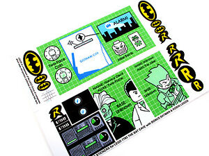 CUSTOM DIE CUT REPLACEMENT STICKERS For Lego THE BATCAVE - Custom die cut stickers