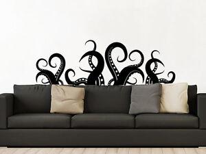 Image Is Loading Octopus Wall Decal Kraken Octopus Tentacles Sea Ocean