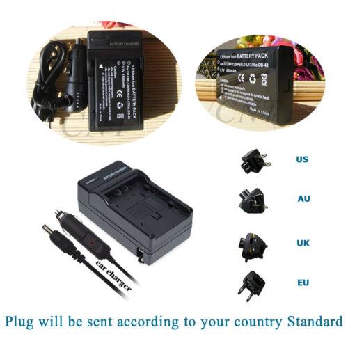 Batería Cargador para Fuji NP-120 Praktica Dvc 5.1HD//5.4FHD//5.45.4FHD//5.5HD