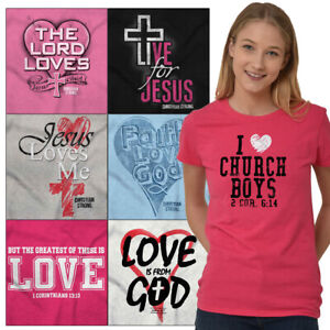 Religious-Tees-Shirt-Fitted-T-Shirts-For-Ladies-Christian-Womens-Gifts-Tshirts