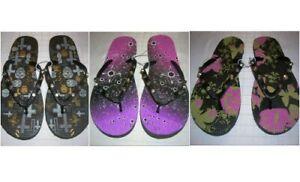 Women-039-s-Studded-Glitter-Beach-Pool-Flip-Flops-Designed-US-Sizes-T35