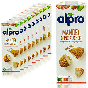 Alpro-10-x-Almond-Drink-without-Sugar-1-Litre-Almond-Drink-Unsweetened-amp-Roasted