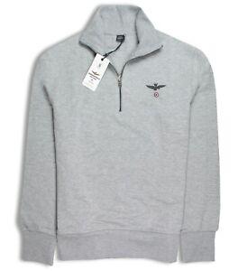 Chiaro troyer Aeronautica Grigio Logostickerei Sweatshirt Militare Con 7UqxnYU