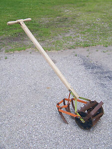 Image Is Loading Vintage Antique Garden Hand Push Cultivator Tiller RoHo
