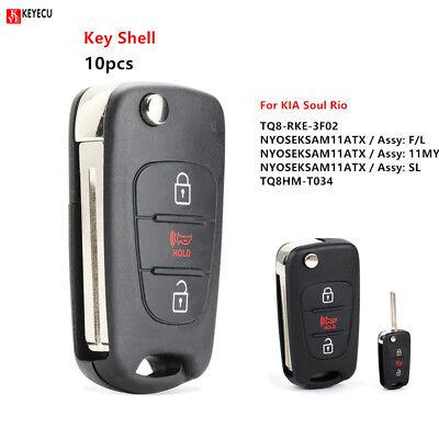 NYOSEKSAM11ATX 2010-2013 Kia Soul Keyless Entry Flip Remote Key Fob fits 2012-2014 Kia Rio