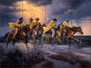 Sorenson-Western-Cowboy-Horse-Art-Ceramic-Tile-Mural-Backsplash-RW-JS039