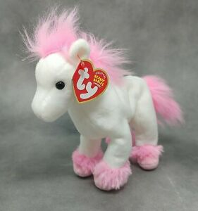 """Ty Beanie Baby AVALON the Pink Horse (8"""") MINT 1 Owner Smoke Free Home"""