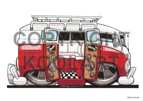 Koolart  CAMPERVAN ANY name  CAR mug coaster gift XMAS MOTORHOME 12 DESIGNS