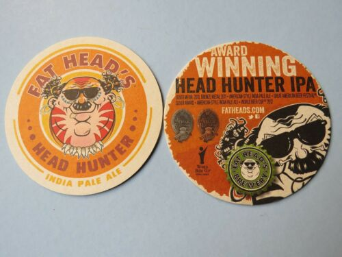 Cool Beer COASTER ~ GABF Award Winning FAT HEAD/'S Brewery Head Hunter IPA ~ OHIO