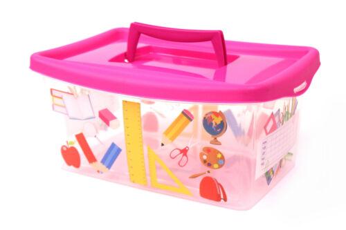 3 Kinder Spielzeug Kisten Aufbewahrungsbox Lagerboxen Stapelbox Schule Truhe