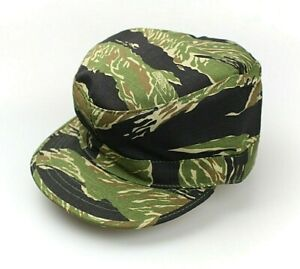 Vietnam Army Style Ripstop Field Cap US Tactical Sun Hat Tiger Stripe Camo S-XXL