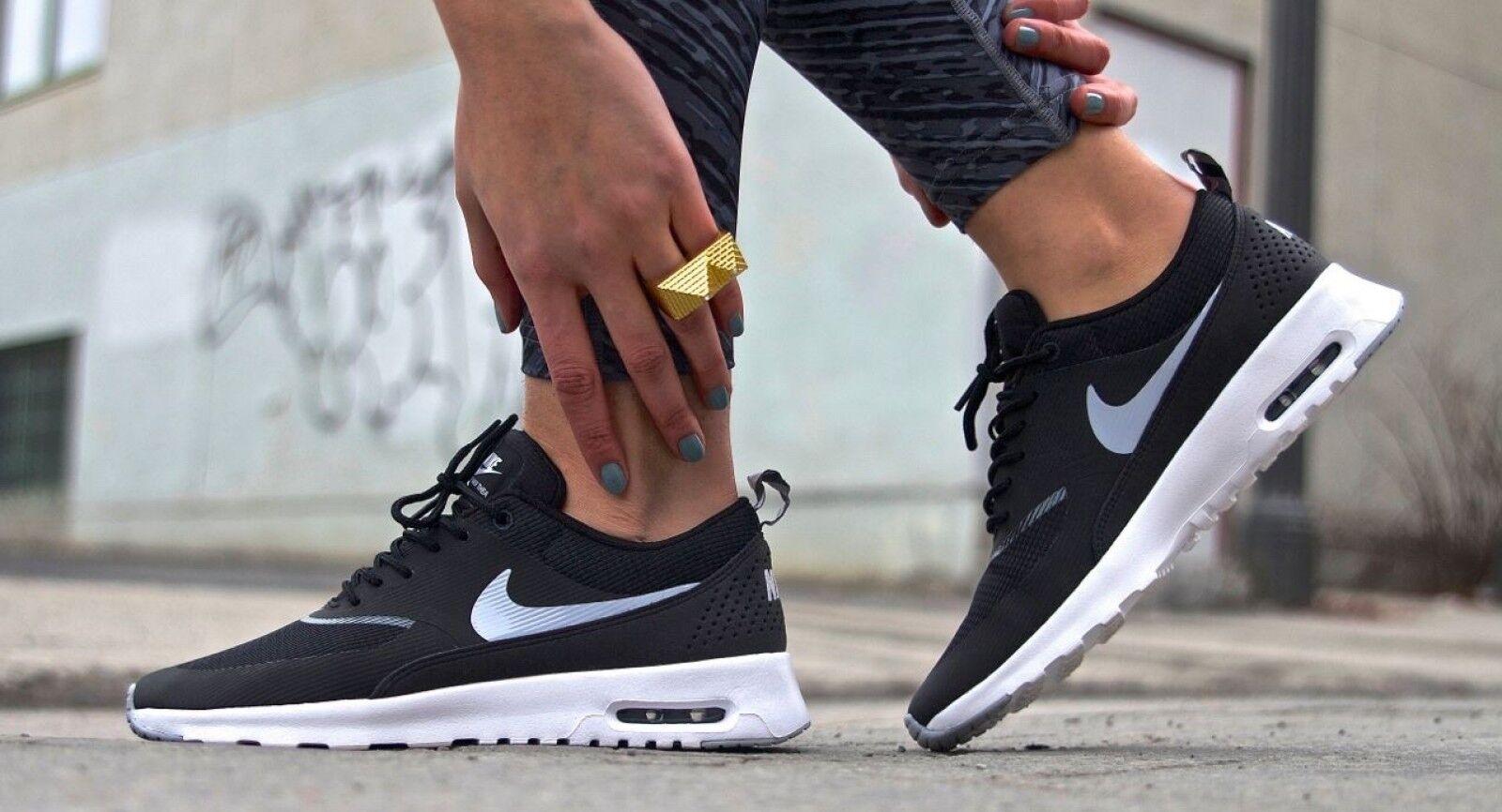 Nike Air Max Thea Womens Sz 7.5 Black/Wolf Gray/Anthrct/White 599409-007 Seasonal clearance sale