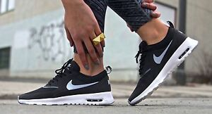 Details about Nike Air Max Thea Womens Sz 7.5 BlackWolf GrayAnthrctWhite 599409 007
