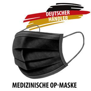 HYGILOVE Medizinische Mundschutz OP CE Maske Atemschutzmaske Atemmaske -SCHWARZ