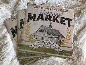 THREE (3) Farmers Market 2021 Calendars from Dollar Tree ...