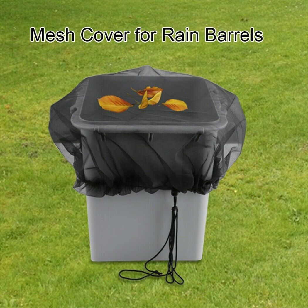 Cover Barrel Barrels Net Outdoor PE Protection Cover Rain Water With Cord