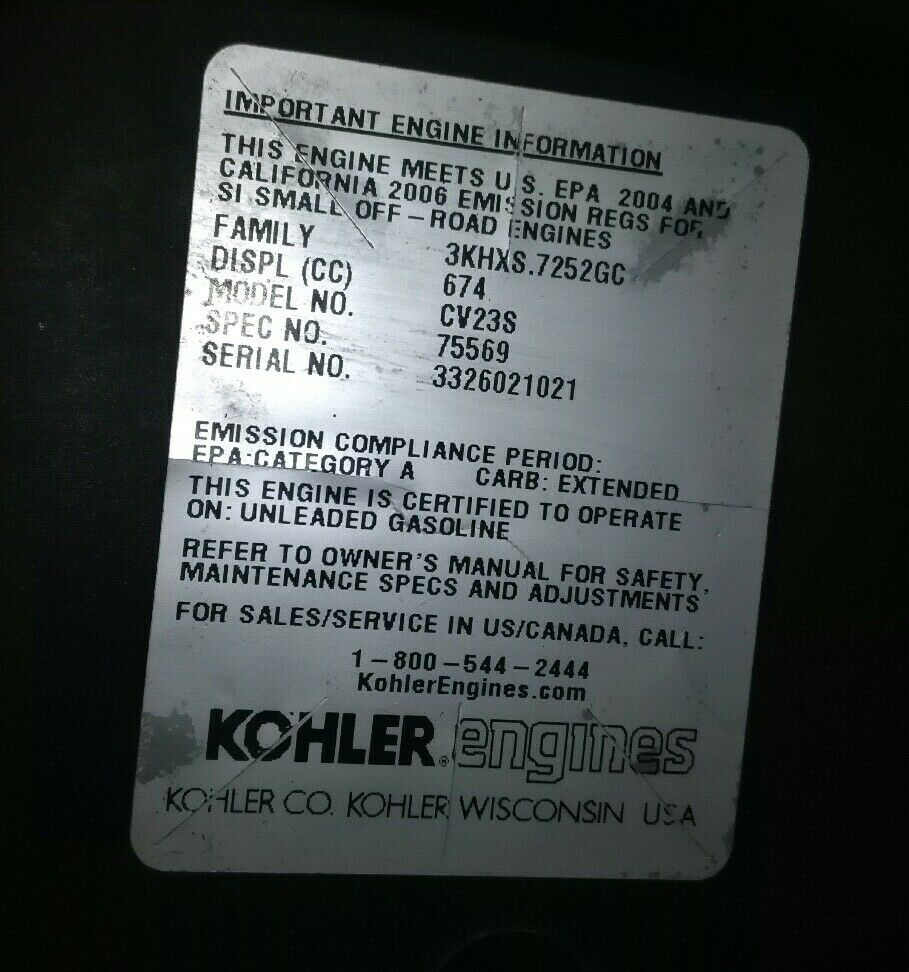 Lawn Mower Parts & Accessories Kohler Command 23hp V-Twin Blower ...