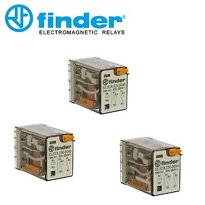 Finder 60.12.8.230.0040 Relay 230 VAC Coil  8 Pin 10 Amp
