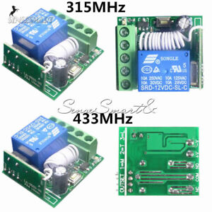 1-Channel-Receiver-Wireless-Relay-RF-Remote-Control-Switch-DC-12V-315-433MHz-10A
