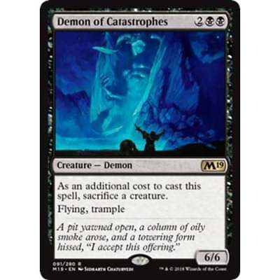 Rare 091//280 - M19 Magic 2019 Core Set Demon of Catastrophes