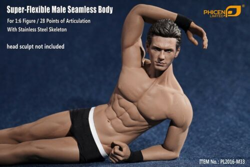 Phicen PL2016-M33 1//6 Scale Super Flexible Male Muscular Seamless Body