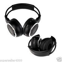 2x Headphones In Car Pillow Headrest Dvd Player Ir Fast Ship