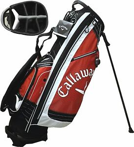 NEW-Callaway-Golf-XTT-XTREME-Stand-Carry-Bag-7-way-9-034-Top-Red-White-Black