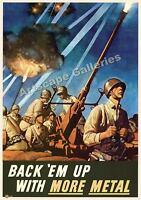 Classic Ww2 Poster more Metal Anti-aircraft Gun 17x24