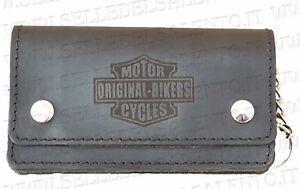 la migliore vendita vari stili cerca il meglio Dettagli su Portafoglio motociclista pelle motorcyles original bikers  catena Wallet Biker
