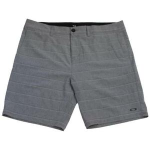 Oakley-Fortuna-Short-Mens-Size-36-XL-Forged-Iron-Grey-Casual-Striped-Shorts