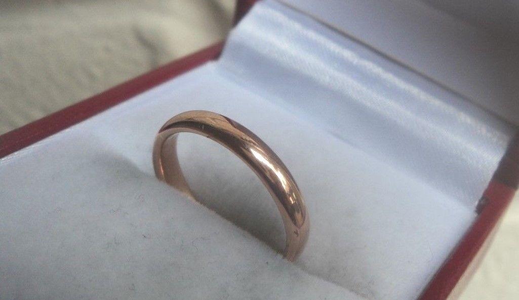 VINTAGE 9ct rosa oro Fede o Fascia H H H M 1940 BIRMINGHAM-Dimensione J K f845e5