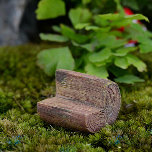 Fashion Mini Chair Sofa Fairy Garden Bench Model Doll House Decor UUYJ