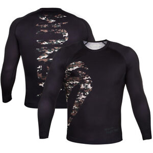 Venum Original Giant Long Sleeve MMA Rashguard - Black/Forest Camo